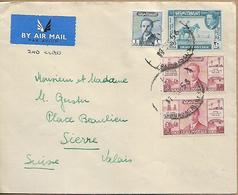 IRAQ 1956 COVER Sent To Suisse 4 Stamps COVER USED - Iraq