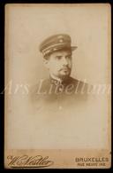 Photo / Cabinet Photo / Militair / Soldier / Soldat / Kongo / Congo / Photo W. Nestler / Bruxelles / 2 Scans - Guerre, Militaire