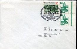 54590 Germany Circuled Cover 1987  Wwf,  Panda - Brieven En Documenten