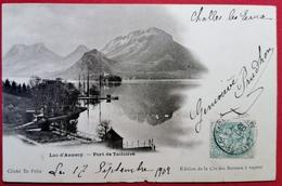CPA-ANNECY-74-HAUTE SAVOIE-LE LAC-PORT DE TALLOIRES-EDIT CIE DES BATEAUX A VAPEUR-PIONNIERE - Annecy