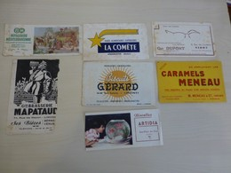 Lot De 6 Buvards Anciens, Niort, Bordeaux, Andancette, Etc, état , Ref 1795 ; BU 04 - Carte Assorbenti