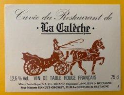 14210 - Cuvée Du Restaurant De La Calèche à La Guerche De Bretagne - Etichette