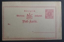 Württemberg 1874, Postkarte 2Kr P16 Ungebraucht - Wuerttemberg