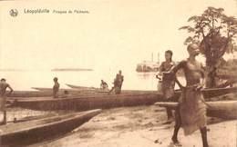 Léopoldville - Pirogues De Pêcheurs (animée) - Kinshasa - Léopoldville