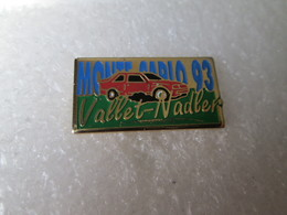 PIN'S    RALLYE MONTE CARLO 93  PEUGEOT 309  VALLET  NADLER - Rallye