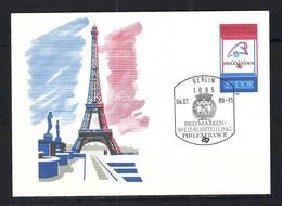 BICENTENAIRE DE LA REVOLUTION FRANCAISE 1789-1989: Carte Illustrée D'Allemagne (RDA) Oblitérés CAD De L'Exposition   TTB - French Revolution