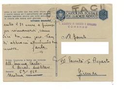 8335 Franchigia Militare 2^ WW PM MODENA 21-7-1943 X FIRENZE TACI OGNI NOTIZIA - Entero Postal