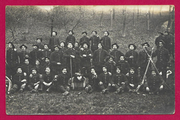 Carte Photo Militaria - Studio Lançon à Annecy - Cliché D'un Groupe De Militaires - 22e Bataillon De Chasseurs Alpins - Regimente