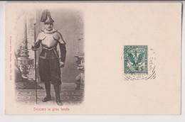 VATICAN : SVIZZERO IN GRAN TENUTA  - GARDE SUISSE EN GRANDE TENUE - TIMBREE EN 1905 - 2 SCANS - - Vatikanstadt