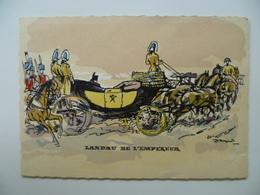 CPA / Carte Postale Ancienne  / Napoléon BONAPARTE Landau De L'empereur / Histoire De La Voiture Par JACQUOT - Taxi & Carrozzelle