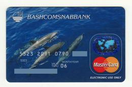 Bashcomsnabbank RUSSIA Dolphins Mastercard Expired - Cartes De Crédit (expiration Min. 10 Ans)