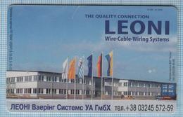 UKRAINE / 030 / Phonecard Ukrtelecom / Advertising LEONI Waring Systems UA GmbH 03/04 - Ukraine