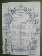 Porseleinkaart Carte Porselain Commissie Van Soepbedeling Distribution De Soupes Hongersnood Voedselschaarste 1847 - Tarjetas De Visita
