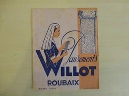 Roubaix, Pansements Willot (infirmière) Buvard Ancien, Ref 1846 ; BU 04 - Blotters