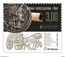2020 EUROPA, Roma, Croat Post Mostar, Bosnia And Herzegovina, MNH - Bosnie-Herzegovine