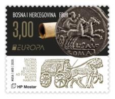 2020 EUROPA, Biga, Croat Post Mostar, Bosnia And Herzegovina, MNH - Bosnie-Herzegovine