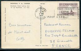 CANADA - N° 278 / CP DE MONTREAL LE 9/8/1966 POUR GRENOBLE - TB - Lettres & Documents