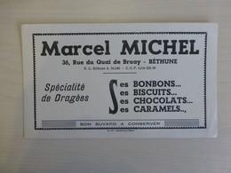 Béthune, Marcel Michel, Bon Bons, Dragées, Biscuits, Buvard Ancien, Ref 1848 ; BU 04 - Unclassified