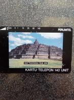INDONESIE 1991 TEMPLE PERUMTEL 140U UT USED - Indonesië
