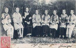Cpa CHINE CHINA SHANGHAI Soochow Girls - Chanteuses De Soutcheou - Cachet SHANG-HAI 1905 - China