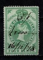 Griqualand 1878 Revenue Duty Stamp Four Pence 16/12/78 - Afrique Du Sud (...-1961)
