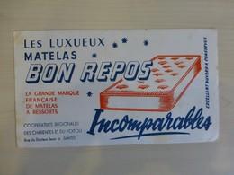 SAINTES Matelas BON REPOS Incomparable, Buvard Ancien, Ref 1857 ; BU 04 - Blotters