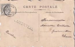 DDX 161 - La GAUME - SUPERBE Carte Fantaisie Décorée à La Main - TP Armoiries 1 C VIRTON 1911 - Griffe De Gare LAMORTEAU - Lineari