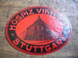 Hospiz Viktoria Stuggart   Etiquette Hotel Valise Luggage - Adesivi Di Alberghi