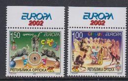 "Europa Cept 2002 Bosnia/Herzegovina Serbia  2v (""Europa"" In Margin) ** Mnh (47644F) - Europa-CEPT"