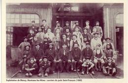 (71). Blanzy. Ed Musée De La Mine. Montceau Les Mines. Ouvriers Du Puits St Francois & Puit De Magny - Montceau Les Mines