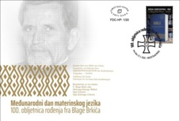 2020 FDC, The 100th Anniversary Of The Birth Of Fr. Blago Brkic, Croat Post Mostar, Bosnia And Herzegovina, MNH - Bosnia Erzegovina