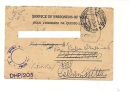 8385 Posta Militare 2^ WW POW 25-2-1943 CAMP 28 INDIA BOMBAY - 1900-44 Vittorio Emanuele III