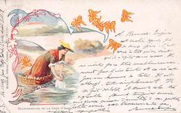 CPA Illustrée - Blanchisseuse De La Côte D'Azur - Douhin - Andere Illustrators