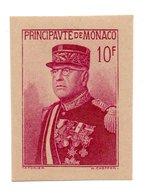 MONACO -- Découpe Du Bloc Louis II -- 10 F. Lilas-rose ** 15e Anniversaire De L' Avènement Du Prince Louis II - Blocs