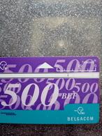 BELGIQUE 500BEF SANS ENCOCHE NO NOTCH N° 514K..... UT USED - Zonder Chip