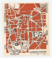 CARTE PLAN 1960 - CLERMONT FERRAND GROTTES DU PÉROU SARCOPHAGE CITÉ UNIVERSITAIRE - Mapas Topográficas