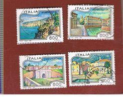 ITALIA REPUBBLICA  - SASS. 2064.2067  -   1993  TURISTICA     -            USATO - 1946-.. République