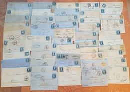 France - Lot De 50 Lettres Classiques  - DEPART 1 EURO - Marcofilia (sobres)
