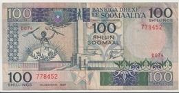 SOMALIA P. 35b 100 S 1987 VF - Somalia