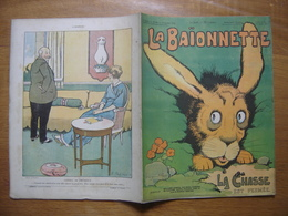 1916 LA BAIONNETTE 68 LA CHASSE EST FERMEE Benjamin Rabier Gus Bofa Fabiano - 1900 - 1949