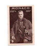 MONACO -- Découpe Du Bloc Louis II  1922 - 1947 -- 200F.+ 300 F. Noir Sans Gomme No Gom - Blocs