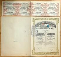 SERBIA SWITZERLAND Bank - 1924 Yugoslavia - AKTIE SHARES SHARE STOCK STOCKS BONDS - Banque & Assurance