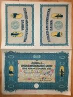 SERBIA USA AMERICA Bank 1924 Yugoslavia - AKTIE SHARES SHARE STOCK STOCKS BONDS Statue Of Liberty NEW YORK - Banque & Assurance
