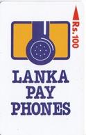 (11SRLA) TARJETA DE SRY LANKA DE Rs.100 LOGO EMPRESA - Sri Lanka (Ceylon)