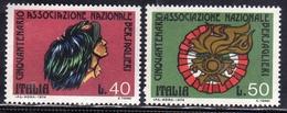 ITALIA REPUBBLICA ITALY REPUBLIC 1974 CINQUANTENARIO ASSOCIAZIONE BERSAGLIERI SERIE COMPLETA COMPLETE SET MNH - 1971-80: Neufs