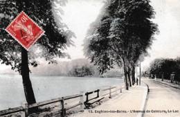 ENGHIEN LES BAINS ,AVENUE DE CEINTURE ,LE LAC ,COULEUR   REF 65908 - Enghien Les Bains