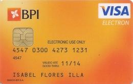 PORTUGAL -  BPI - Electron VISA Card - Cartes De Crédit (expiration Min. 10 Ans)