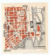 CARTE PLAN 1960 - SAINT NAZAIRE - PHARE CHANTIERS DE PENHOET BASE SOUS MARINE - Topographische Karten