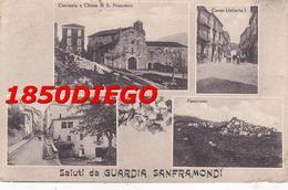SALUTI DA GUARDIA SANFRAMONDI - MULTIVEDUTE F/PICCOLO VIAGGIATA ANIMAZIONE - Benevento