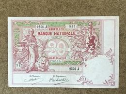Belgique 20 Frs 18-nov-1913 TTB - [ 2] 1831-... : Belgian Kingdom